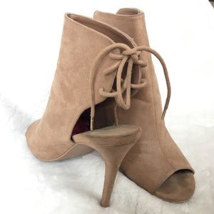 Forever 21 Cut out Ankle bootie-OPEN TOE